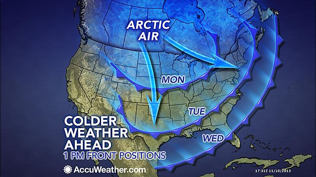 arctic blast map